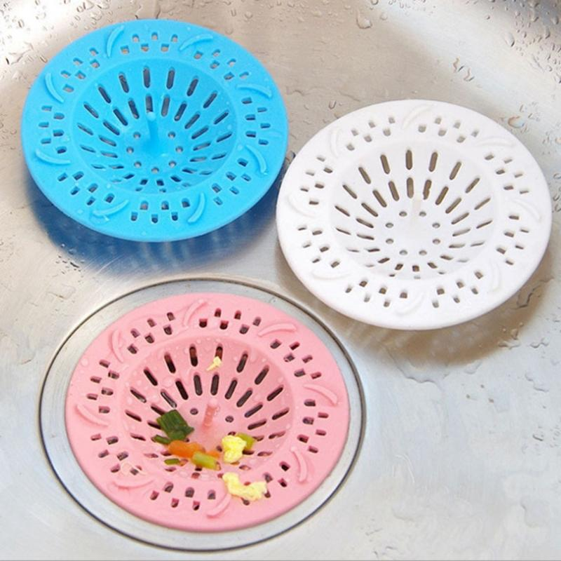 2018 Drain Hair Stopper Cover Filter Sink Strainer Silicone Bathroom ...
