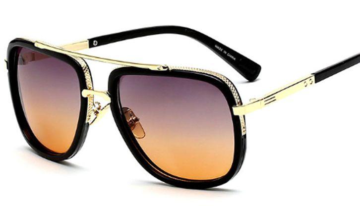 97a484d740b Fashion Pilots Luxury Sunglasses Men s Mirror Ladies Square Flat Top ...