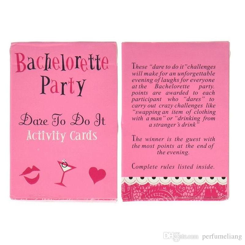 52 Card/9x6x1 Cm Bachelorette Party Supplies Gift for Bride Weddings Birthday Party Favors Games Truth or Dare Poker ZA2991