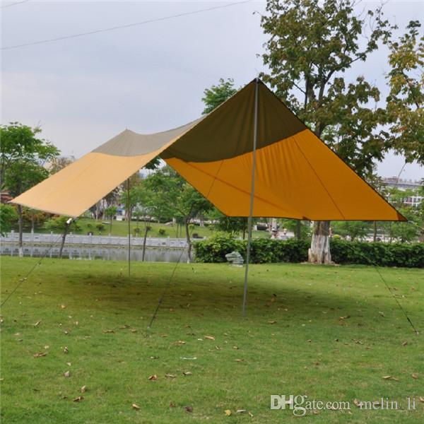 Outdoor Camping Tarp Tent Shelter Super Large Beach Picnic Garden Event Sun Shade Canopy Awning With Stand And Rope Camping Tents For Sale Backpacking Tents