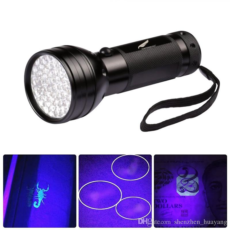 395-405NM Black Flashlight 51 UV LED Torch Scorpion Detector Hunter Finder Ultra Violet without Battery by DHL