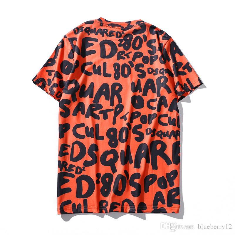 Heißer lustiger grafischer Emoji-Buchstabe druckte kurzes T-Shirts der Männer 3D Hip Hop-T-Stücke freies Verschiffen Kleidung