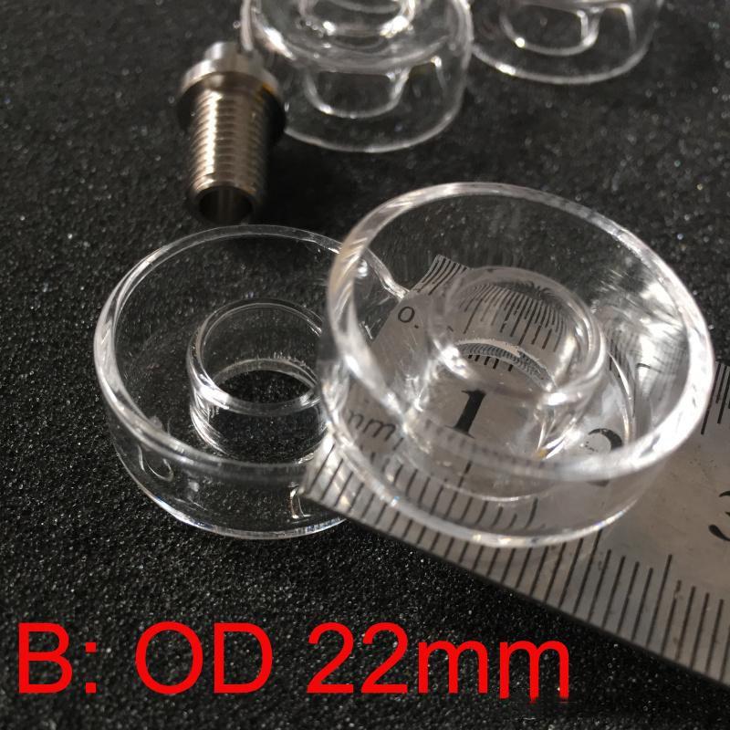 Hybird Titanium Ricambio unghie Piatto al quarzo 100% reale Piatti al quarzo di alta qualità unghie Olio rig Bong Chiodi Piatto sostituibile al quarzo
