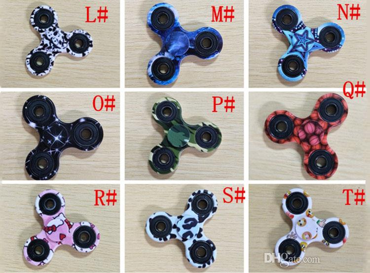 Camouflage Fidget Spinner Triangle Tri Spinner Giocattoli EDC per autismo e bambini ADHD DecompressionToys Tri-Spinner Hand Spinners