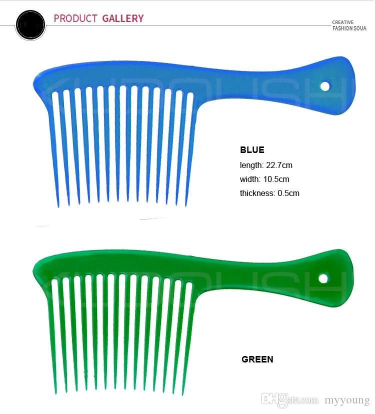 Hot Sale Hair Styling Combs with Handle Anti Static Professional Salon Wide Tine Comb High Quality .