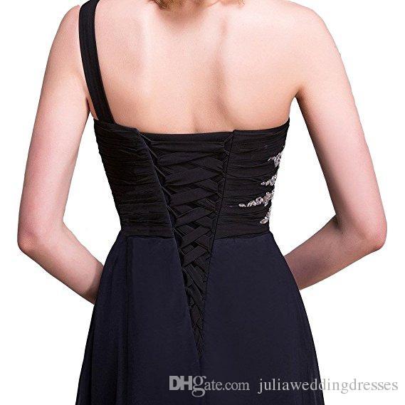 2017 neue Farbverlauf Lange Eine Linie Chiffon Prom Abendkleider Frauen Formale Kleider Bodenlangen Party Kleid QC441