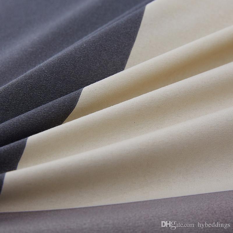 Set di biancheria da letto in piumino di piccole dimensioni Set di biancheria da letto in piumino stile semplice Set di lenzuola in piumino Letto singolo Matrimoniale Queen Size 4 pezzi Biancheria da letto moderna