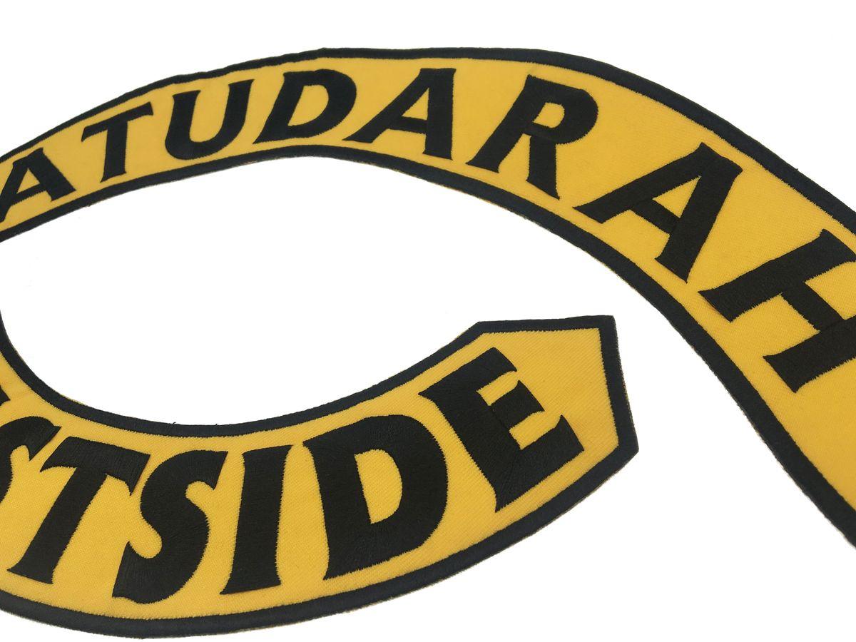Nuovo arrivo SATUDARAH MC ricamato ferro sulla patch moto giacca da motociclista maglia patch full size toppa del cavaliere trasporto libero G0397