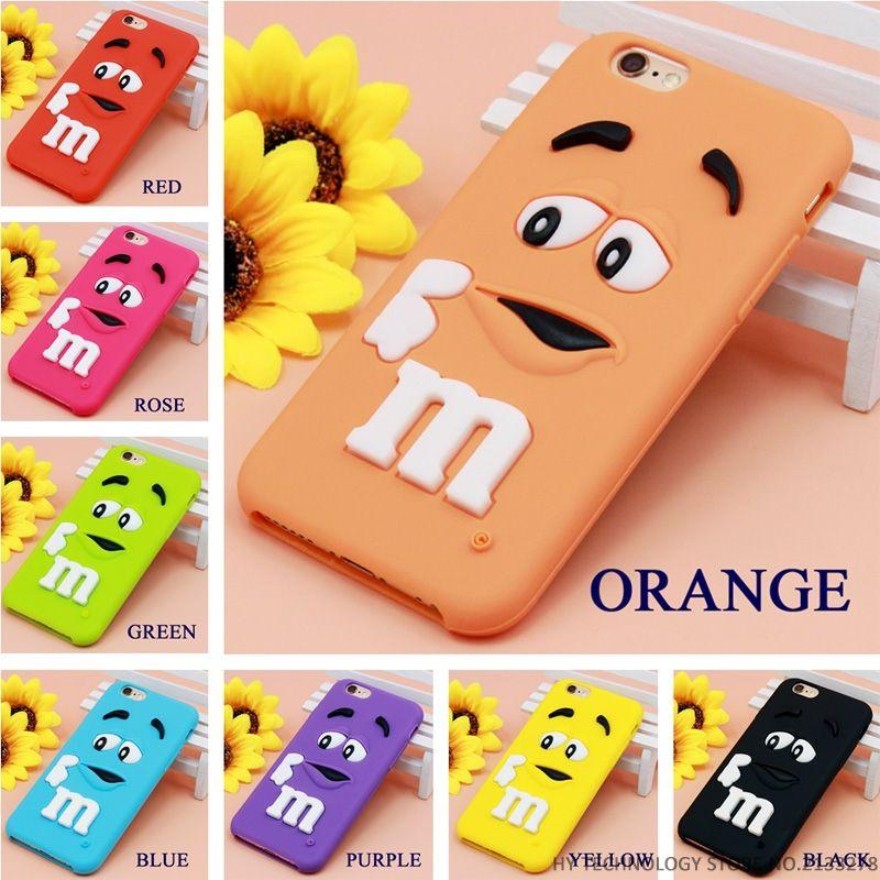 quality design d9e2e 4ba11 Cartoon M&M s Chocolate Candy Rubber Case For iPhone 6 6S 7 Plus 4 4S 5C SE  5 5S Best Quality Soft Silicone Back Cover Fundas