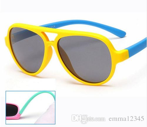 8d79af702c9 Polarized Kids Oval Sunglasses TAC TR90 Pilot Soft Frame Baby Boys ...