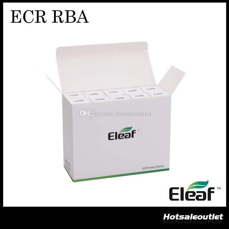Nieuwste originele Eleaf Ismoka ECR-hoofd ECR RBA-spoel voor Eleaf Melo 2 IJust 2 Tank ECR RBA Verstuiverkop