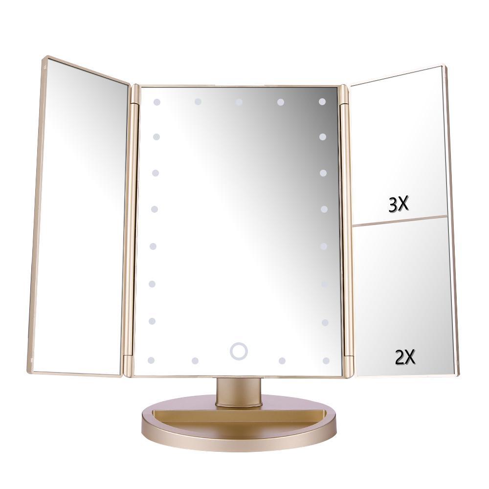 Easehold 21 Leds Makeup Mirror Led Make Up Mirror Foldable