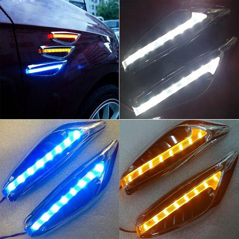 3W DC 12V Coche Universal LED Luz de trabajo Marcador Lateral Luces de Dirección Luces de Dirección para Audi Cruze Mazda Civic Corolla
