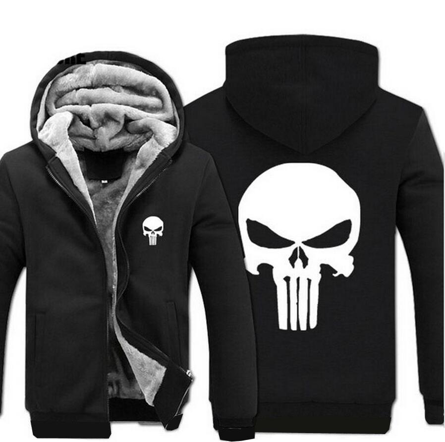 2019 wholesale anime skull the hoodies men 2017 spring winter jacket for men fleece thicken men sweatshirts mens coat brand clothing from vanilla04