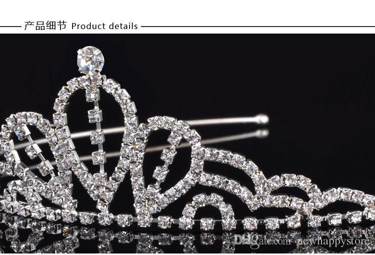 Высокого класса свадебные короны дизайн для свадебного торжества официальный повод Белый диадемы аксессуары для волос кристаллы Корона волос ювелирные изделия