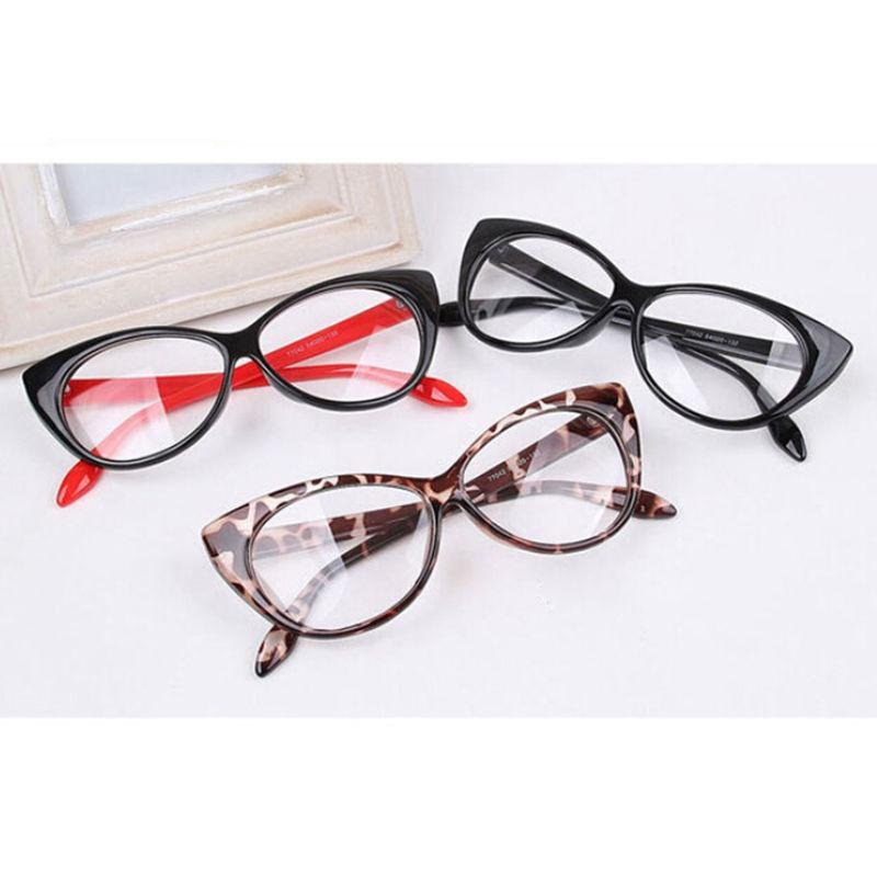 8694c425e5 Wholesale- Vintage Red Leopard Black Glasses Frame Fashion Classical ...