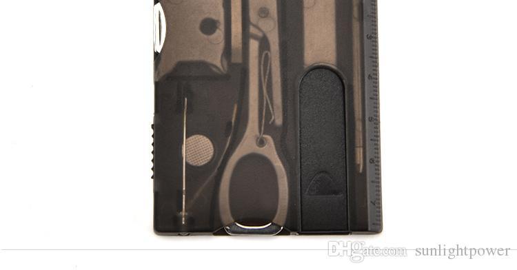 12 pièces prix forfait multifonctions outil carte multi-usages combinaison outils poche survie couteau mini manucure ensemble