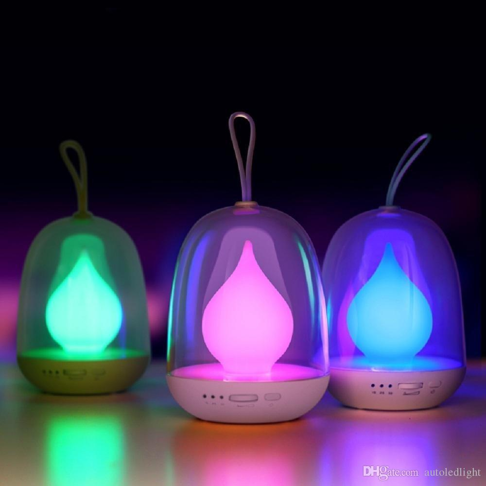 2018 Multi Color Led Night Lamp Candle Flame Portable