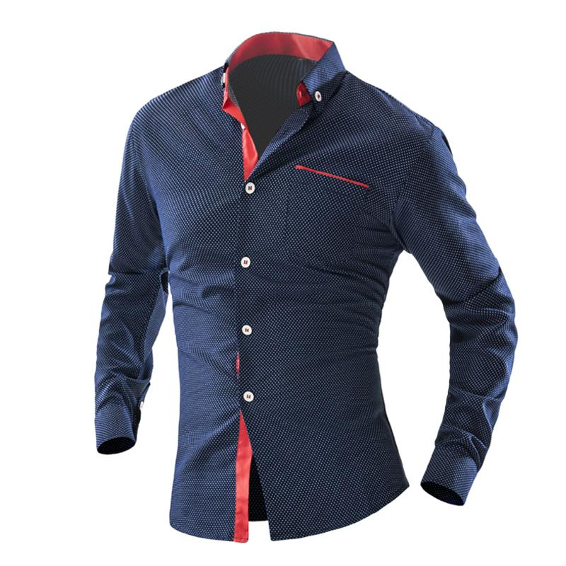 2019 Wholesale New 2016 Polka Dot Men S Shirt British Design Long Sleeved  Mens Dress Shirts Chemise Homme Social Casual Male Slim Fit Shirt Men From  Karel, ... 1e92d999118