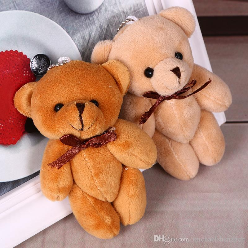 4 cores 11 cm crianças pingente de pelúcia diy gravata borboleta bear pingente amantes de animais de pelúcia figura presente de aniversário bonecos de pelúcia brinquedos de presente b001