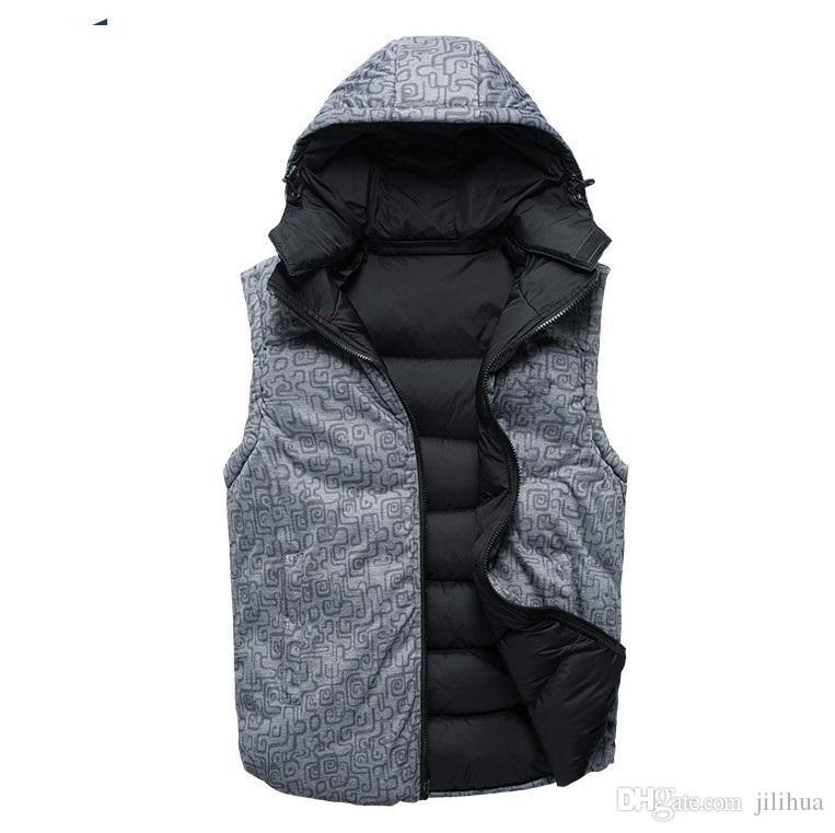 Coat Men aşağı Sonbahar-Fabrika doğrudan satış% 90 beyaz ördek Yelek yaka erkek biri ahlak down kolsuz ceket yetiştirmek aşağı