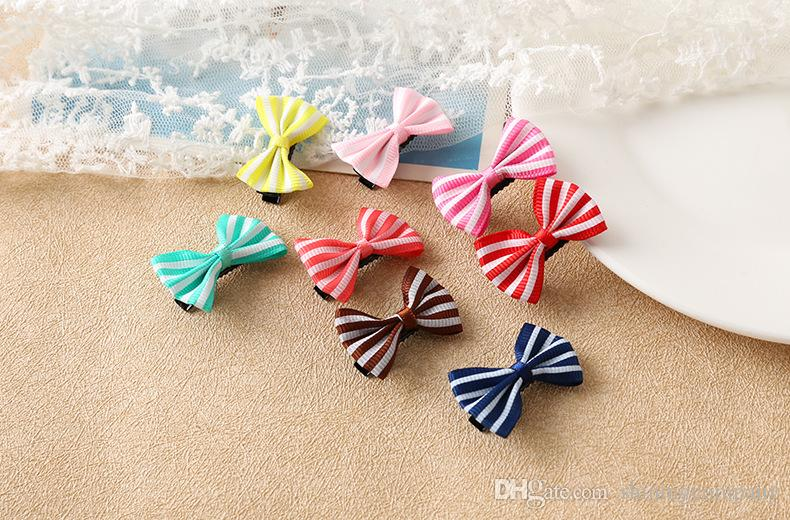 DHL Free 55 designs Girls Bow Knot Hair Clips Floral Printed Hair Pins Girl Candy Colors Barrettes Korean Styles Children's Hair Clips Claws
