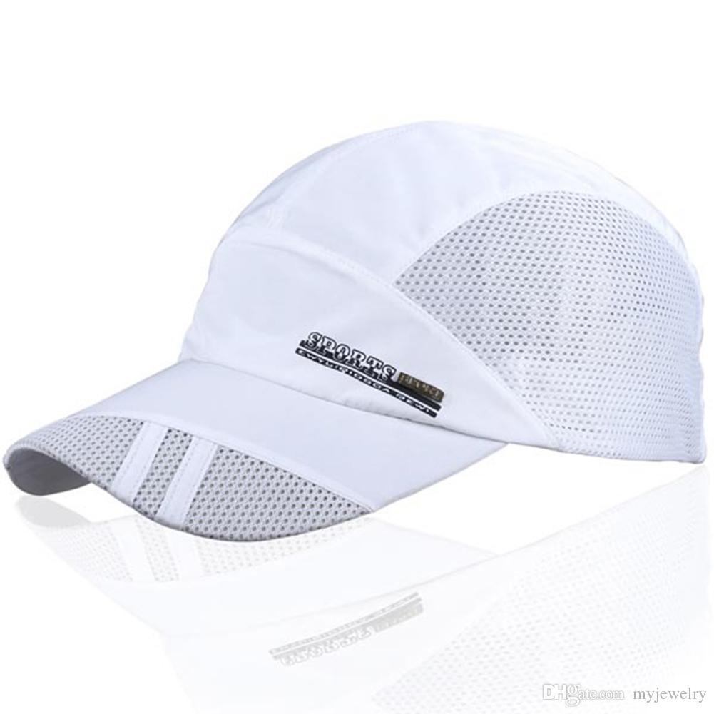 46f6b7fa3c6 Hats 2017 Men Women Outdoor Sport Baseball Mesh Hat Running Visor Quick-drying  Cap Men s Accessories