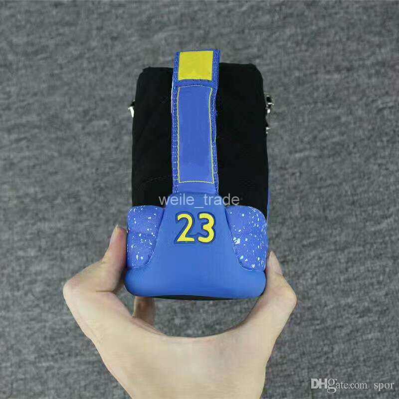 Nike Air Jordan Retro Shoes Nuevo 12 XII Hombres Zapatos de Baloncesto Azul Negro spot 12s Zapatillas de deporte para hombre Baloncesto zapatillas de deporte Zapatillas de deporte