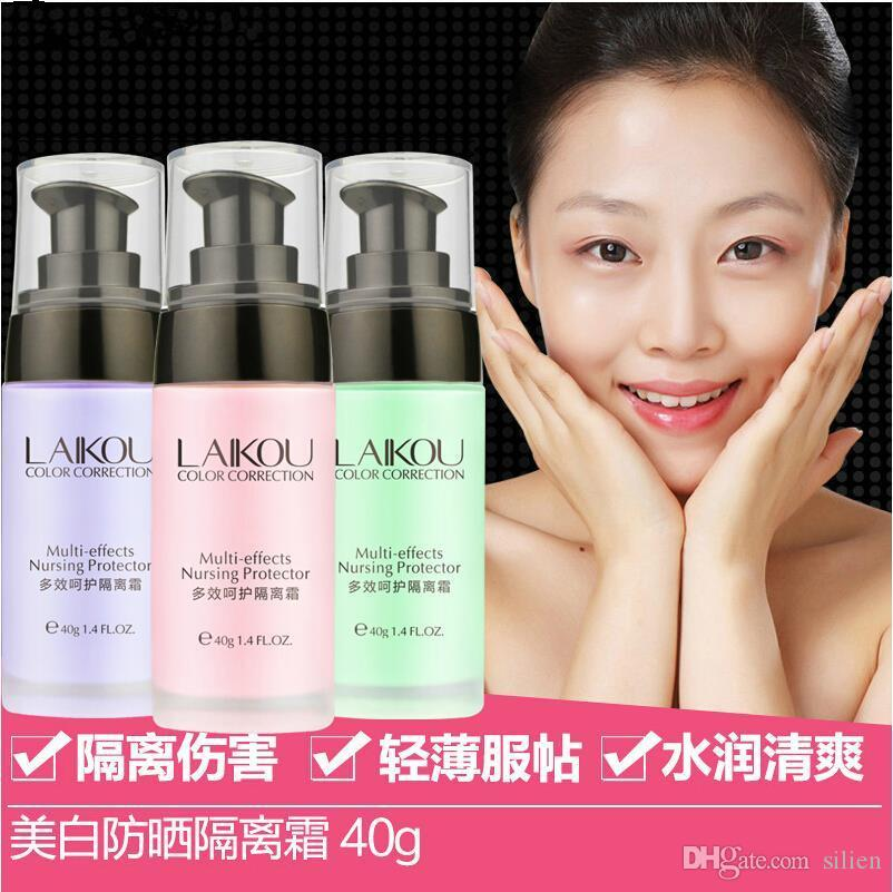 Wholesale-Hot sale Primer Makeup Cream Face Color Correction Lotion Moisturizing Pores Invisible Foundation Concealer Cosmetic Protector 40g
