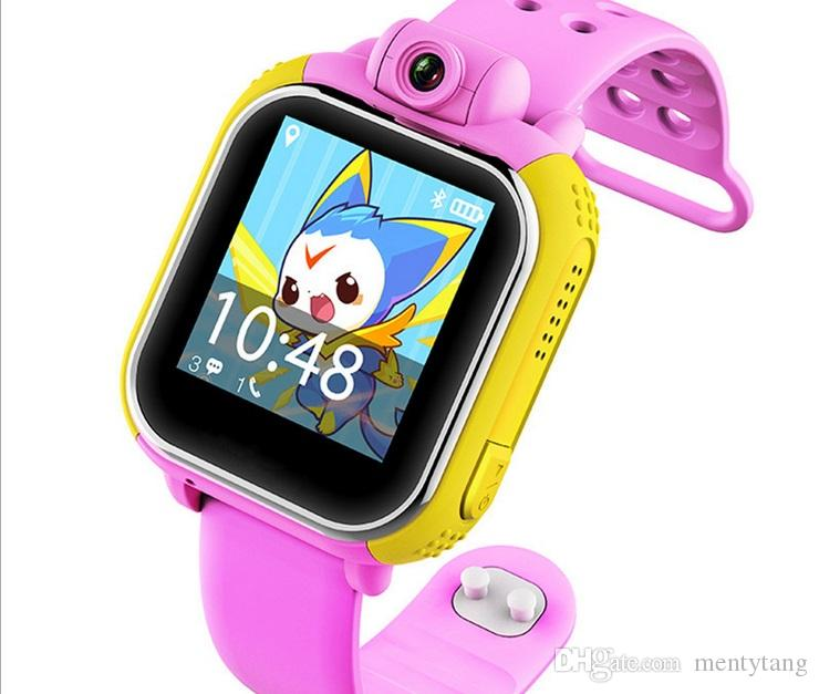 Kid GPS G75 Smart Watch Wristwatch 3G SOS Call Location Finder Locator Device Tracker For Kid Safe Anti Lost Monitor With Camera