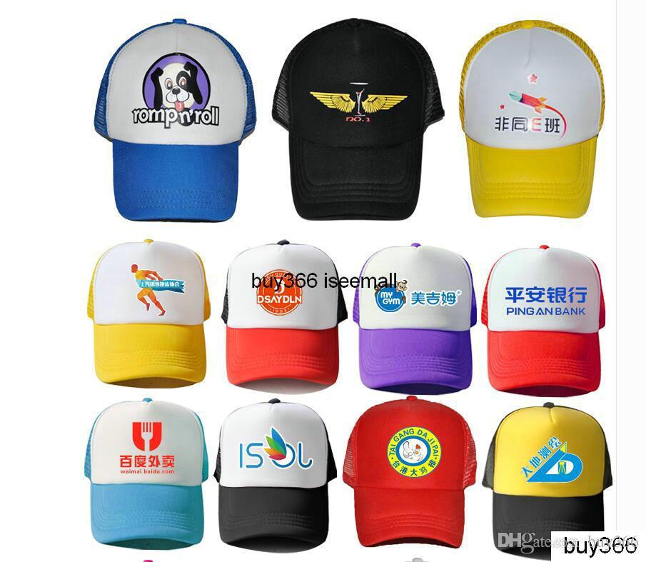 Özel Trucker Kapaklar Reklam Örgü Kap Seçim Şapkalar Eğlence Spor Düz Fitty kapaklar Gümrüklü LOGO Erkekler womens Snapbacks baskı boş şapkalar
