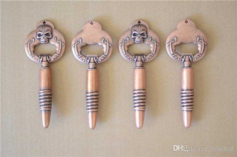 LJ-112 Wielofunkcyjny Chic Vintage Bronze Czaszki Otwieracz Czerwony Wino Piwo Soda Szklana Cap Otwieracz do butelek Kuchnia Bar Prezent Kuchenny Gadżety