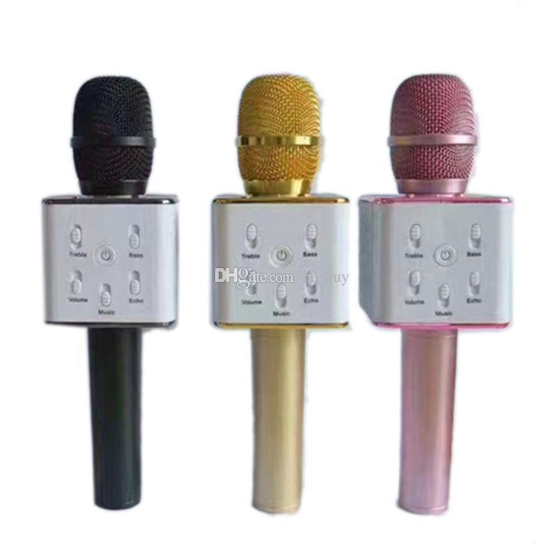 Q7 ميكروفون يده بلوتوث اللاسلكية KTV مع مكبر الصوت ميكروفون ميكروفونو يده للهواتف الذكية كاريوكي مشغل Karaoke 0802218