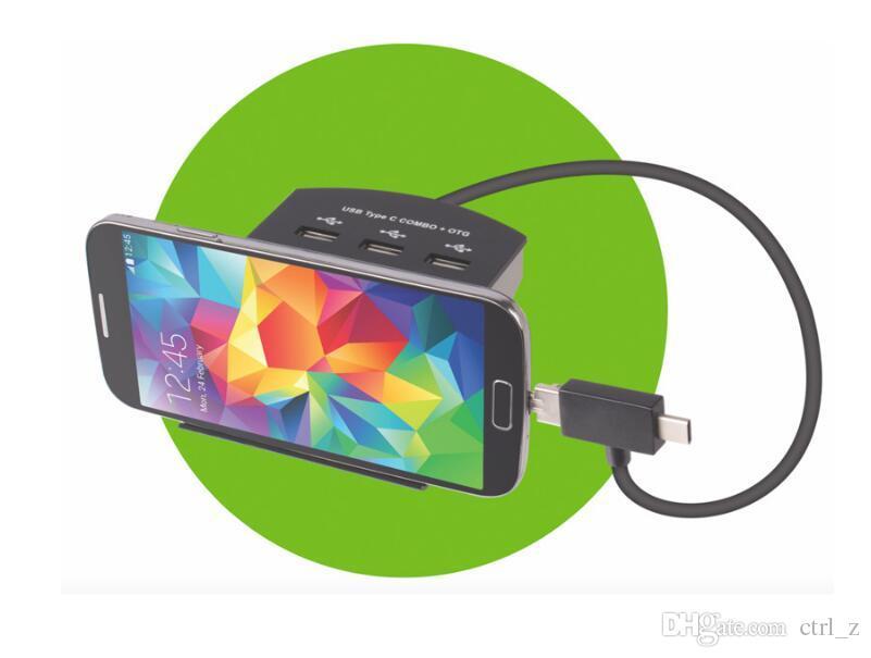 10 In 1 Tip-C USB 2.0 Hub Kart Okuyucu Ile Cep Telefonu Standı Fonksiyonu Desteği SD TF MicroSD M2