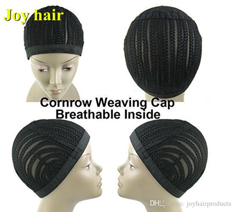 Бесплатная доставка Cornrow плетеный парик Cap для плетения промежность плетение парики - Большой, Средний и малый размер