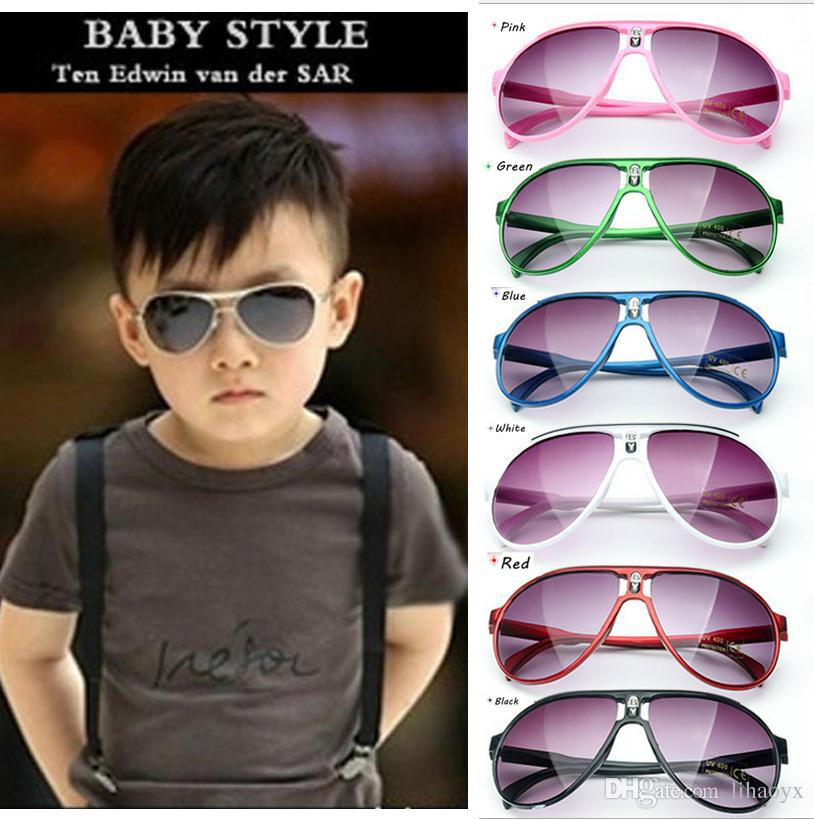 45ac2d8574 Hot 2017 Kids Sunglasses Baby Boys Girls Fashion Brand Designer Sunglasses  Kids Sun Glasses Beach Toys UV400 Sunglasses Sun Glasses D009 Canada 2019  From ...