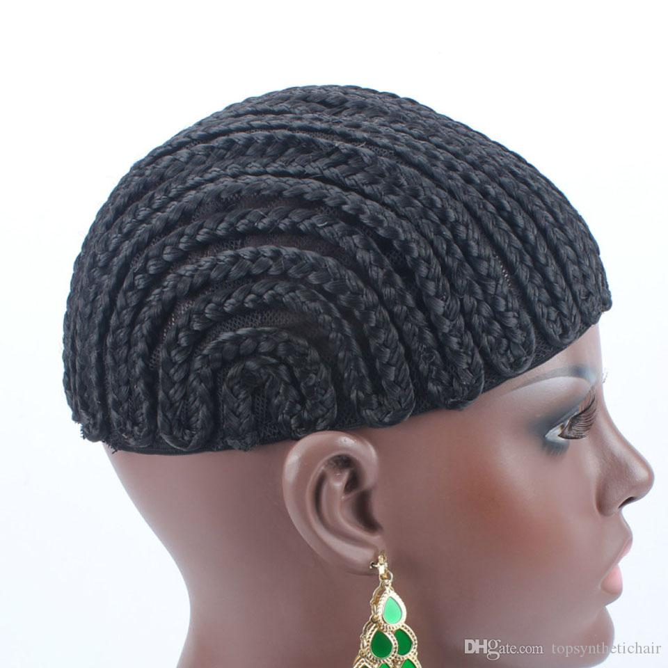 New Brand Braided Cornrow Wig Cap Easy To Sew In Glueless Hairnet Full Swiss Lace For Wig Making braided wig cap