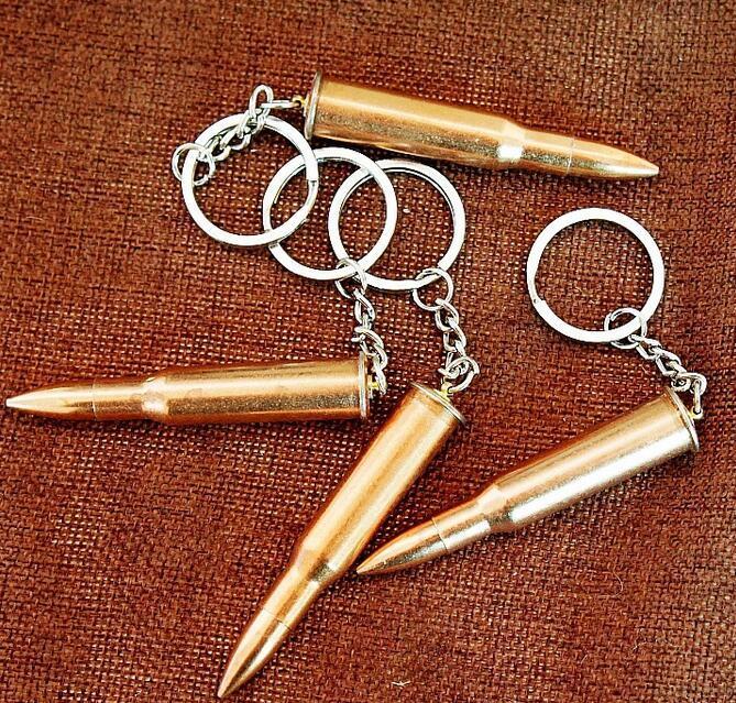 Llavero de moda accesorios clave creativo mini gadget metal llavero bala artificial pistola bala llavero accesorios de moda DHL gratis