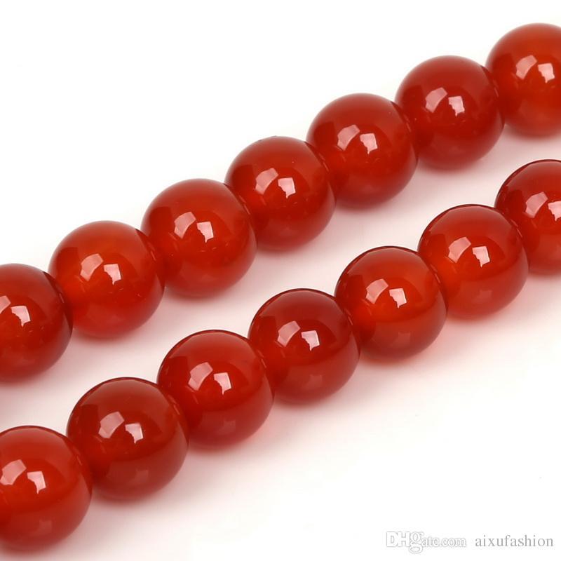 Perle di pietra rotonde naturali perline di agata nera selezionabili grado onice perline di pietra monili che fanno braccialetto fai da te 4/6/8/10 / 12mm