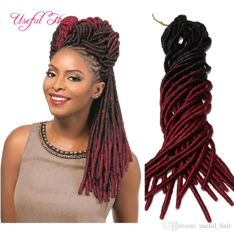 ombre blue burgundy soft dreadlocks Faux locs SYNTHETIC braiding hair crochet braidS HAIR MARLEY TWIST 100g ombre kanekalon hair extensions