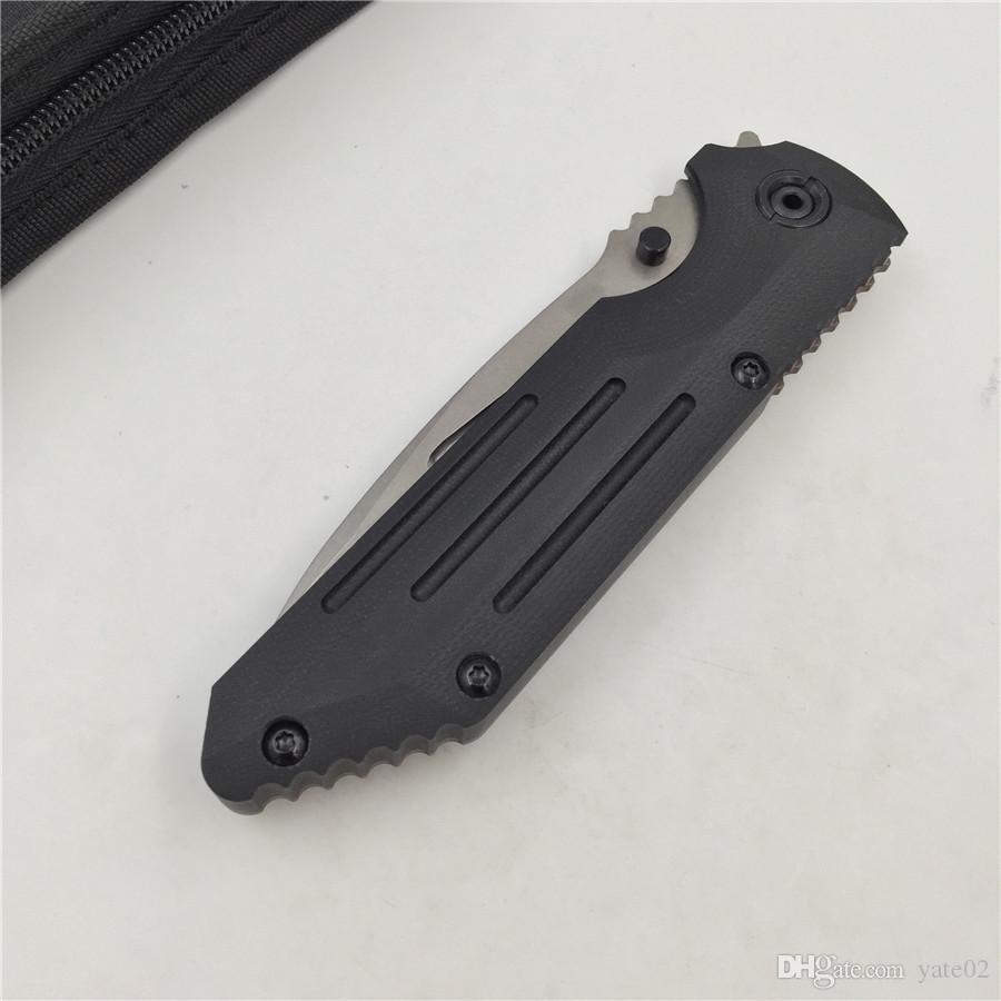 BEAR CLAW B0610 coltello pieghevole flipper S35VN lama Titanium + G10 maniglia esterna da campeggio caccia coltelli da frutta tasca utensili EDC