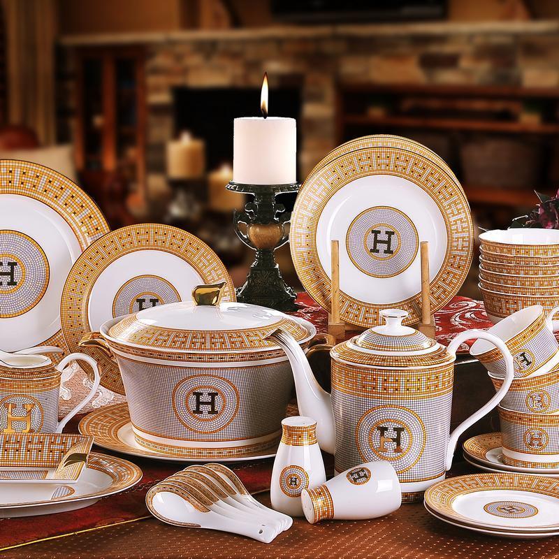 Compre Conjunto De Louça De Porcelana Osso China H Marca Mosaico