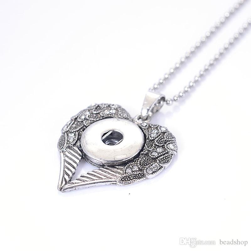 Diy Crystal Heart Anhänger Edelstahl Kugelkette Halskette