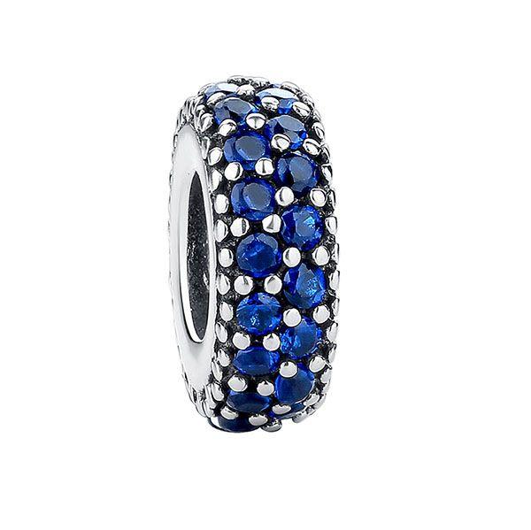 Authentique 100% 925 Sterling Sterling non plaqué Inspiration Spacer Bead Bead Cubic Zirconia Fit Original Pandora Bracelet Pendentif