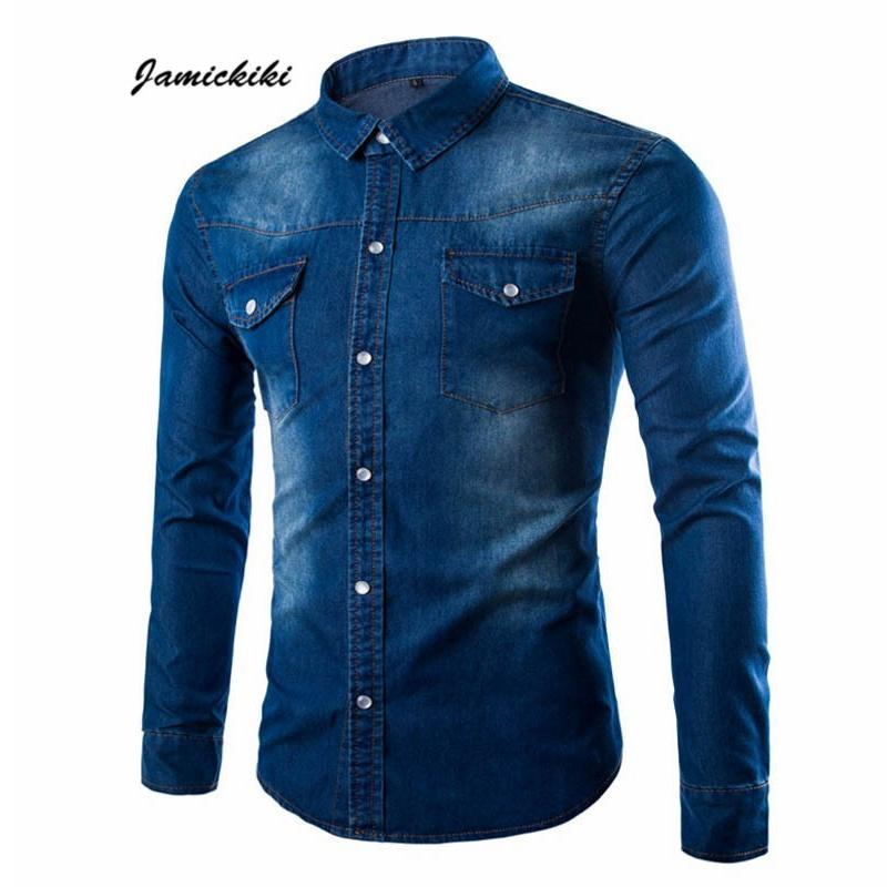 44d074a7d2d 2019 Wholesale 2016 Black Blue Denim Washed Color Spring Autumn Clothing  Men S Full Sleeve Shirt Casual Single Breasted Jean Shirts Men From Zhusa
