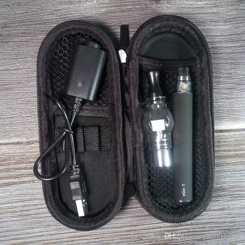 Ego Glass Globe Atomizer Starter Kits Dry Herb Vape Pen Wax Vaporizer Tank EGO T Battery 650mah 900mah 1100mah Zipper Case Kit DHL