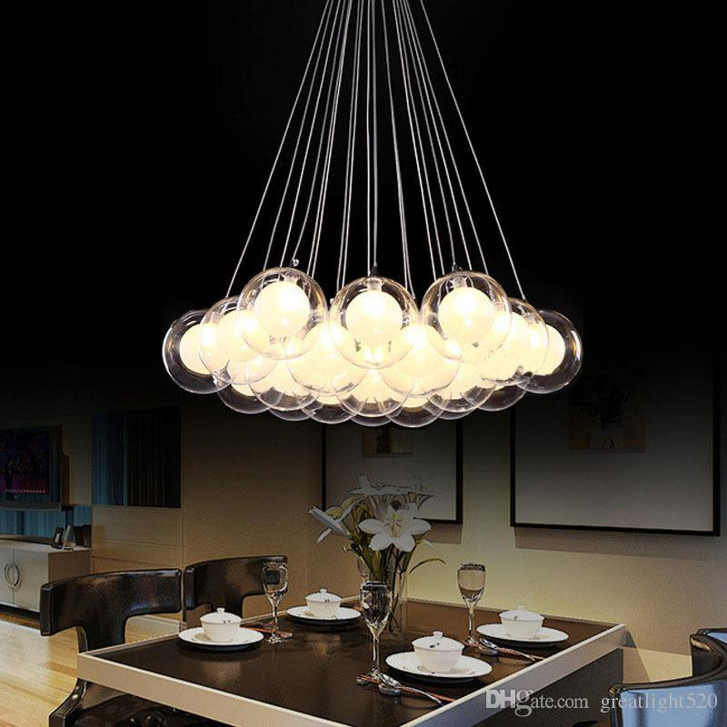 Discount Newest Modern Led Glass Ball Pendant Lights Led Ball Bubble  Chandelier Pendant Lamp Ceiling Lights With G4 Bulb Multi Pendant Lighting  Brass ... Pictures