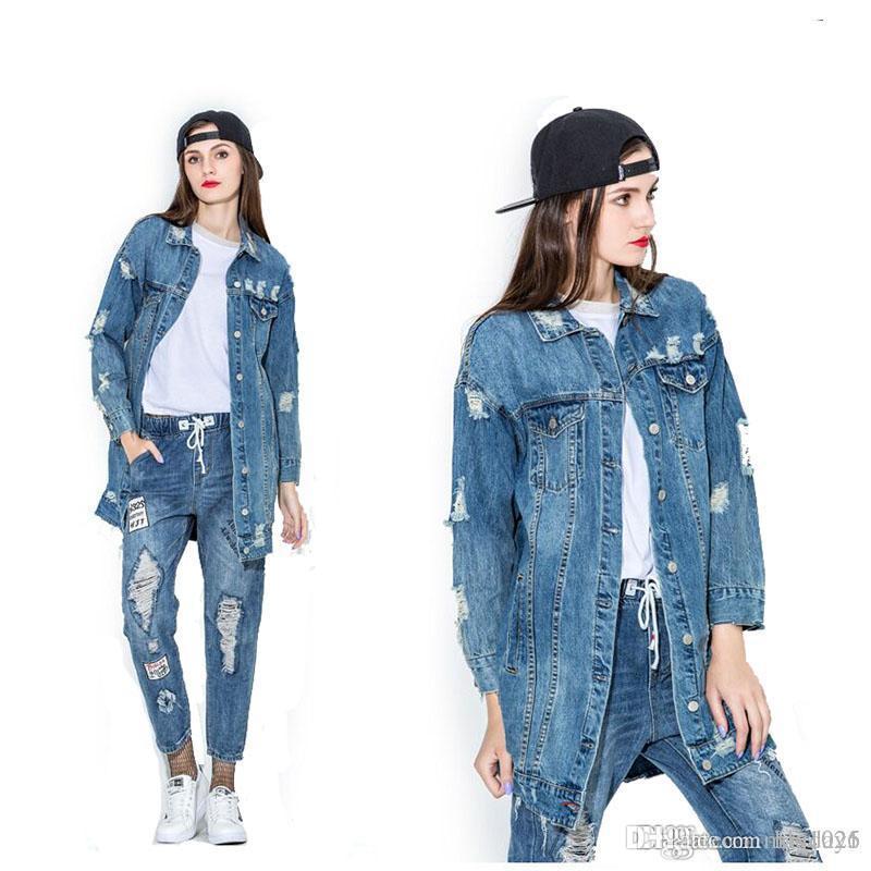 65462251141e Großhandel 2017 Neue Frühlingsfrauen Mode Jeansjacke Lose Weibliche Mädchen  Jeans Mantel Solide Dünne Jacken Kostenloser Versand Von Mayday1,  60.17  Auf De.