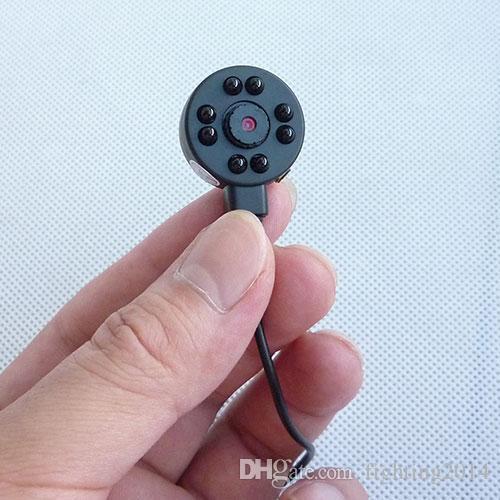 cmos 1/4 600TVL mini pinhole camera 8 led Infrared Night Vision CCTV camera audio video recorder color security surveillance Micro Camera