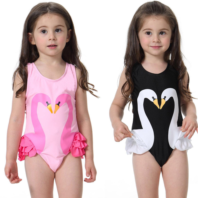 aec9139bb6ff0 2017 Flamingo Children's swimsuit One-piece Kids Girls Baby Swimwear girls'  conjoined swimsuit bikini Flamingo Swimsuit
